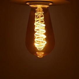 Edison LED Ambre Spirale 4W E27