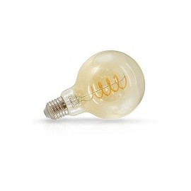 Globe 95 LED Ambre Spirale 4W E27