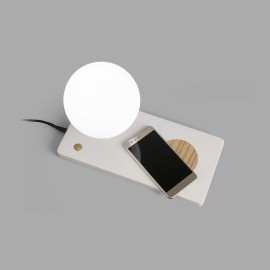 Lampe NIKKO LED H.22cm wireless charger et port USB