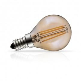 Spherique filament LED Ambre 4W E14