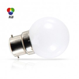 Spherique LED RGB 1W B22