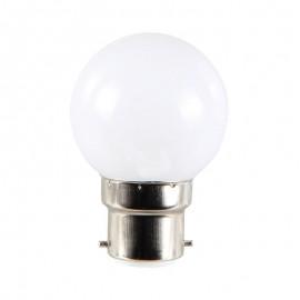 Spherique LED 1W B22 Blanc chaud