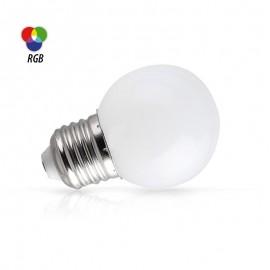 Spherique LED RGB 1W E27