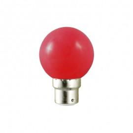 Spherique LED 1W B22 couleur