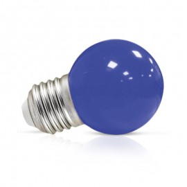 Spherique LED 1W E27 5 couleurs au choix