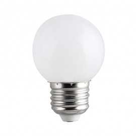 Spherique LED Blanc chaud 1W E27
