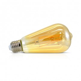 Edison filament LED Ambre 8W E27
