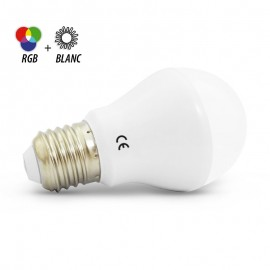 BULB LED 60mm RGB + Blanc 7W E27