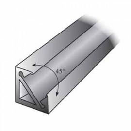 Profilé d'angle 45° aluminium anodisé ARAL124/2