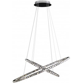 Suspension Saturn LED K9 cristal Chrome Diam120cm