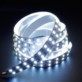Ruban LED blanc 12V 12W/m double ligne
