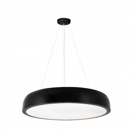 Suspension Cercle_2 LED Blanche Noire Diam. 55cm
